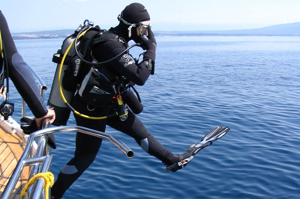 Full day scuba diving tours to the islands of Krk, Cres, Plavnik and Prvic