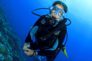 Kids scuba diving Krk Croatia